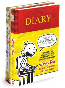 Diary of a Wimpy Kid Blank Journal/DIY Bundle