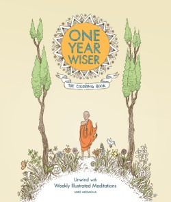 One Year Wiser: The Coloring Book Unwind with Weekly Illustrated Meditations