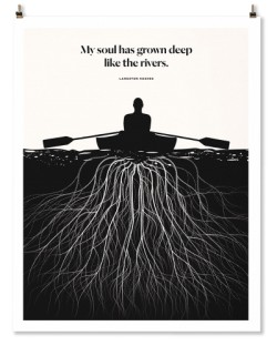 "Langston Hughes ""Roots"" Print"
