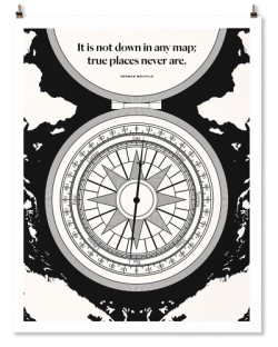 "Herman Melville ""Compass"" Print"