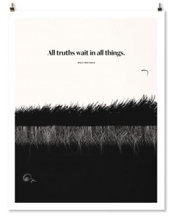 "Walt Whitman ""Grass"" Print"