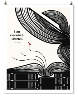 "Jane Austen ""Diverted"" Print"