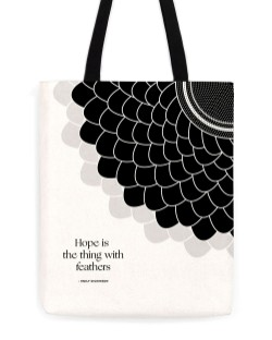 "Emily Dickinson ""Feathers"" Tote"