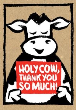 Holy Cow: Thank You So Much! (Thank-You Cards)