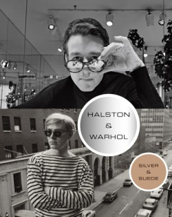 Halston and Warhol Silver and Suede
