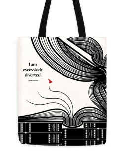"Jane Austen ""Diverted"" Tote"
